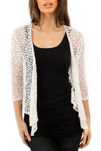 Load image into Gallery viewer, Knitted Shrug White - DressMyMood.co.uk