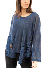 Load image into Gallery viewer, Florence Mesh Tunic Navy - DressMyMood.co.uk