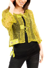 Load image into Gallery viewer, Florence Cropped Jacket Lime - DressMyMood.co.uk