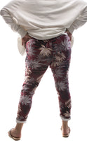 Load image into Gallery viewer, Funky Zebra Magic Pants - Maroon - DressMyMood.co.uk