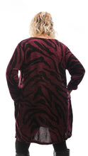 Load image into Gallery viewer, Women's Camouflage Tunic Top - Burgundy - DressMyMood.co.uk