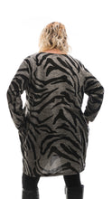 Load image into Gallery viewer, Women's Camouflage Tunic Top - Grey - DressMyMood.co.uk