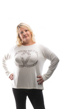 Load image into Gallery viewer, Women's soft motif Jumper- White - DressMyMood.co.uk