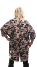 Load image into Gallery viewer, Camouflage Style Tunic Top- Pink - DressMyMood.co.uk