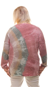 Sparkly Tie Die Jumper- Multicolour - DressMyMood.co.uk