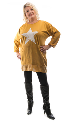 Women's Classic Star Top - Orange - DressMyMood.co.uk