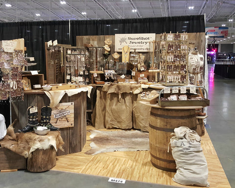 Photo of SureShot Jewelry booth at 2017 CMA Fest in Nashville TN