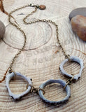 Triple Antler Slice Circle of Life Designer Necklace-SureShot Jewelry