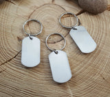 12 Gauge Shotshell Stainless Steel Dog Tag Key Chain-SureShot Jewelry