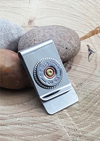 Classic 20 Gauge Shotshell Money Clip - Choice of Brands