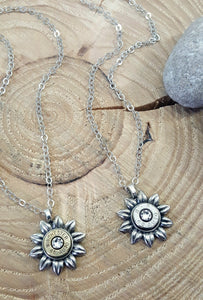 Bullet Necklace - Flower Shape Bullet Necklace - Bullet Jewelry - SureShot Jewelry