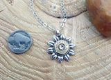 Flower Power Daisy Bullet Necklace-SureShot Jewelry