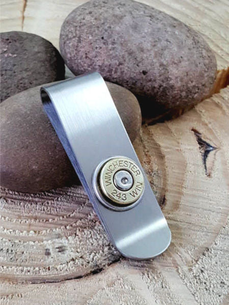 Bullet Money Clip - Slim Style - 243 Caliber-SureShot Jewelry
