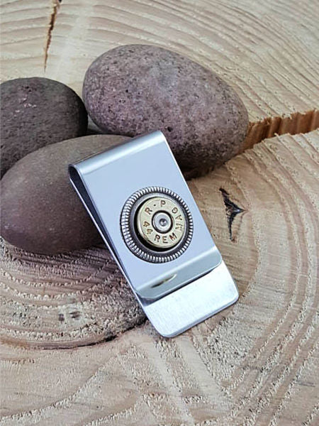 Brass Bullet Money Clip - 44 MAGNUM-SureShot Jewelry