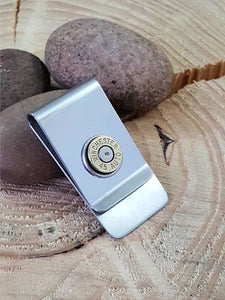 Brass Bullet Money Clip - 45 Auto-SureShot Jewelry