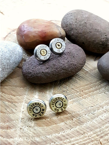 Bullet Studs - Bullet Earrings - 40 Caliber S&W