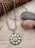 22 Caliber Medallion Chamber Look Bullet Necklace-SureShot Jewelry