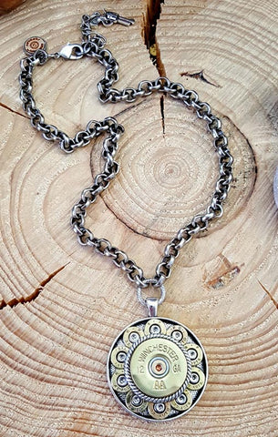 "Ricochet ""Round"" Medallion Bullet Necklace - BEST SELLER"