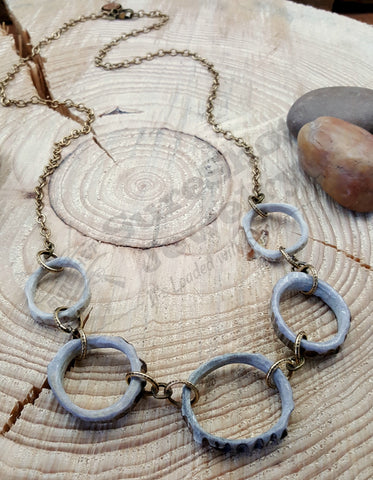 FIVE Antler Slice Circle of Life Designer Necklace