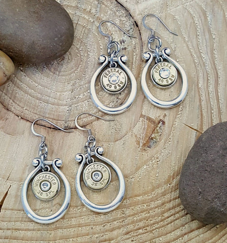 Horseshoe Style Bullet Earrings