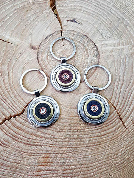 12 Gauge Shotshell Round Stainless Steel Key Ring - ITALIAN Brands-SureShot Jewelry