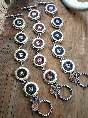 12 Gauge B&P Brand Shotshell Bracelets - Choice of Navy, Burgundy or Black
