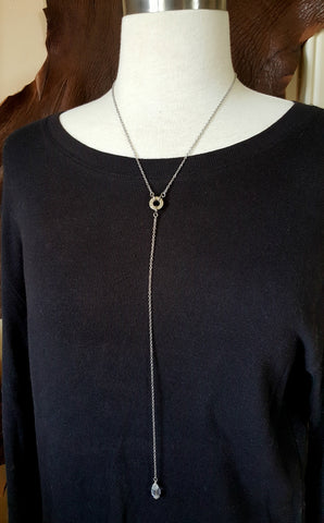 Lariat or Y Style Bullet Casing Necklace