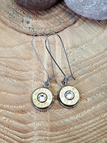 Classic Kidney Wire Bullet Earrings - Stainless Steel - VARIETY OF CALIBERS!