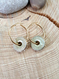 12 Gauge Diamond Studded Gold Shotshell Hoop Earrings - Several Options-SureShot Jewelry