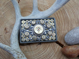 Bullet & Shotshell Rectangle Rope Detail Belt Buckle-SureShot Jewelry