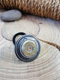 20 Gauge Shotshell Antique Silver Concho Ponytail Holder - Hair Tie-SureShot Jewelry