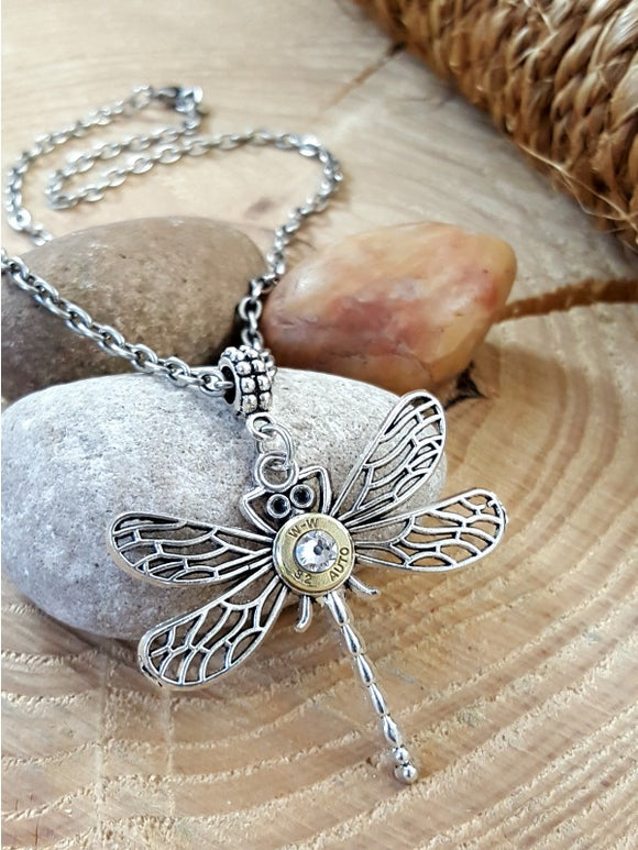 Dragonfly Bullet Necklace - A Summertime Fave!-SureShot Jewelry