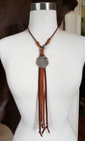 Vintage Watch Fob Fringe Necklaces - Winchester or Colt