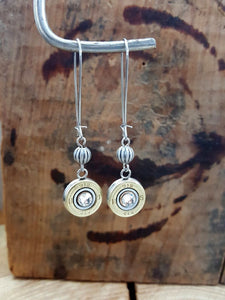 410 Gauge Shotshell Kidney Wire Bullet Earrings