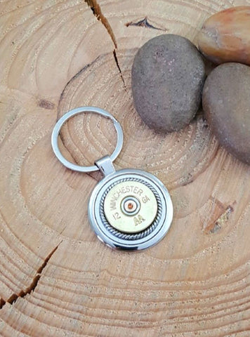 12 Gauge Shotshell Round Stainless Steel Key Ring - Choice of Brands