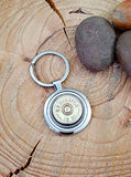 12 Gauge Shotshell Round Stainless Steel Key Ring - Choice of Brands-SureShot Jewelry