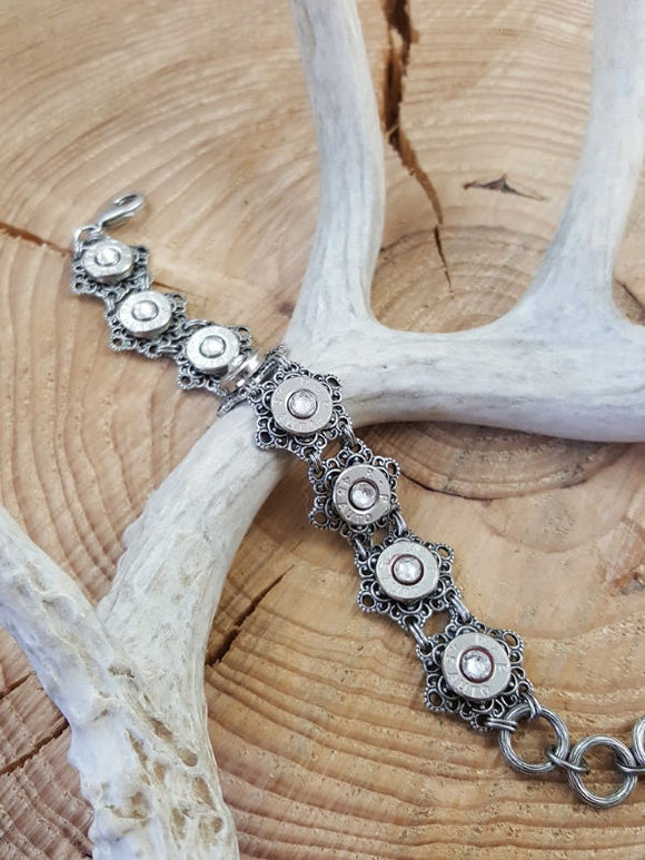 Vintage Inspired Nickel 45 Auto Bullet Bracelet-SureShot Jewelry
