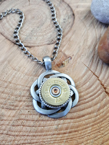 Celtic Knot 20 Gauge Shotshell Necklace - UNISEX - BEST SELLER!