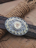 Small Oval Bullet & Shotshell Western Belt Buckle-SureShot Jewelry