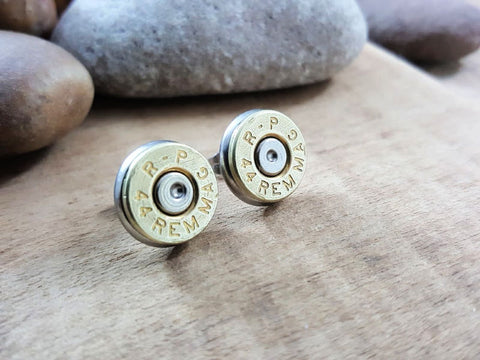 44 Magnum Bullet Stud Earrings