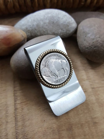 Buffalo Nickel Coin Money Clip