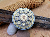 Round Bullet & Shotshell Western Smooth Edge Belt Buckle-SureShot Jewelry