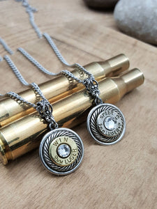 Petite 9mm Bullet Necklace-SureShot Jewelry