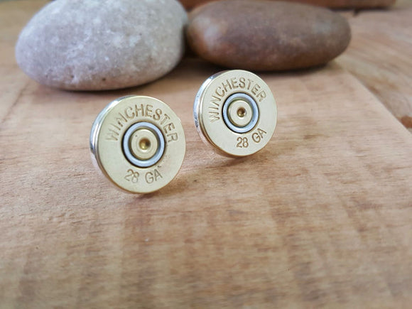 28 Gauge Shotshell Stud Earrings-SureShot Jewelry
