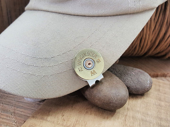 12 Gauge Shotshell Golf Marker - Hat Clip