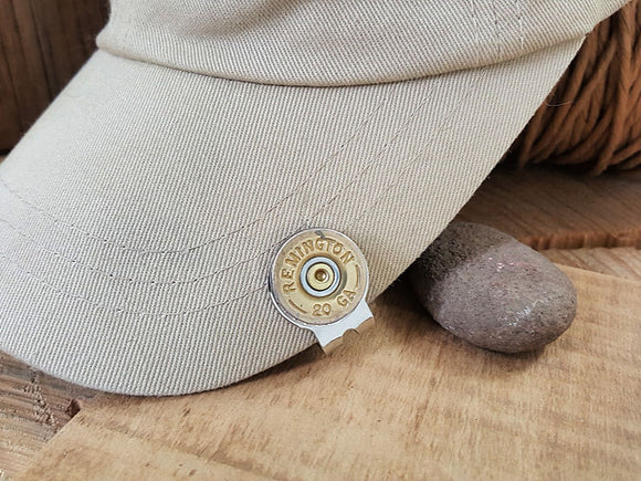 20 Gauge Shotshell Golf Marker - Hat Clip