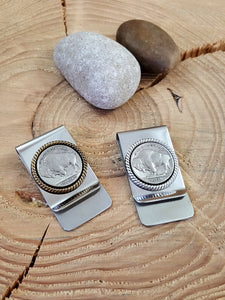 Buffalo Nickel Coin Money Clip-SureShot Jewelry