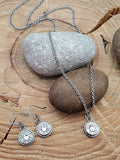 Jewelry Set - Small Caliber Stainless Bullet Necklace & Earring Set-SureShot Jewelry
