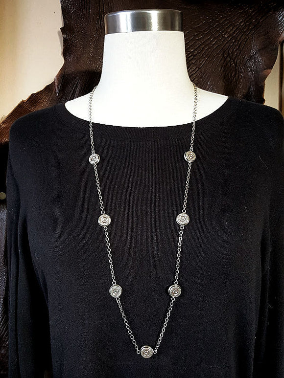 Long Layering Bullet Necklace