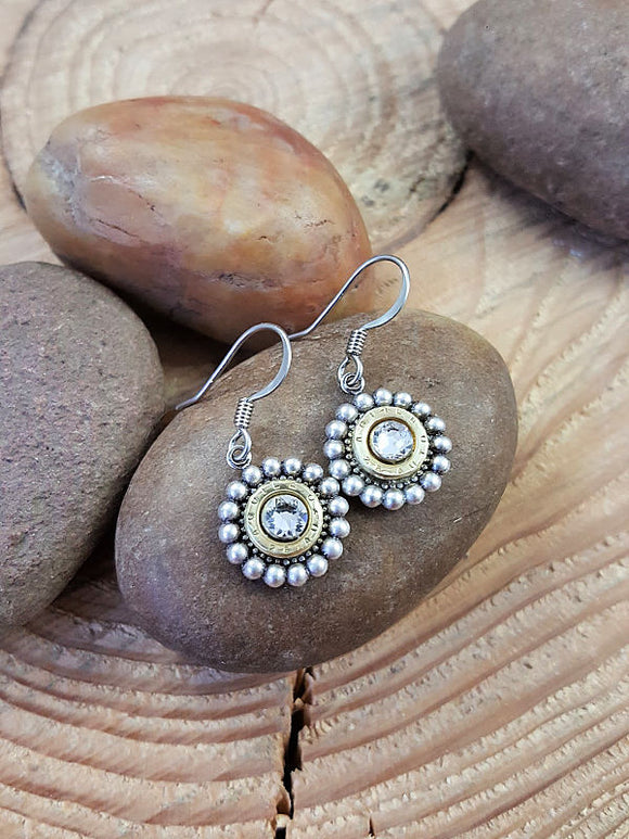 Petite Beaded Bezel Bullet Earrings - 25 Auto-SureShot Jewelry